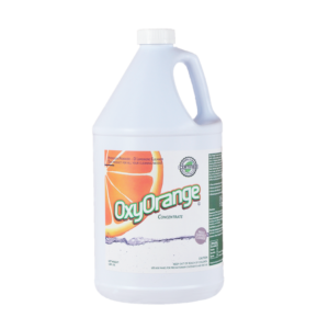 Oxy Orange® effectively removes a wide variety of common soils and stains, including coffee, tea, juice, grease, ink, red wine, and blood, while also neutralizing unpleasant odors